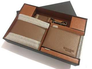 Coach man wallet set original