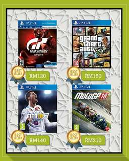 [New] PS4 Games - Fifa 18 | GTA 5 | GT Sports | MotoGP 18