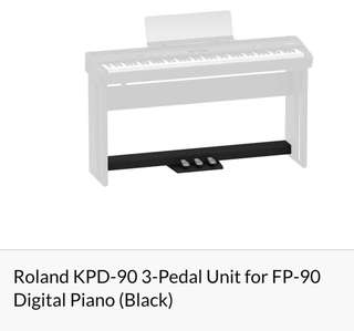 Roland KPD-90 3-Pedal Unit for FP-90 Digital Piano ( Black)