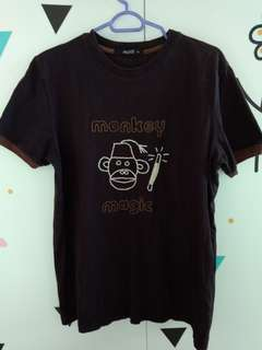 Topshop moto brown monkey tee shirt