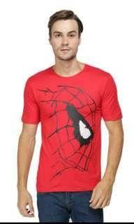 Kaos Distro Premium Superhero Spiderman Jaringan - Merah