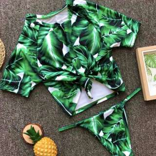 FOXY Printed Padded Shirt Top Swimsuit