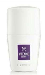 White musk deodorant / roll on