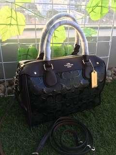 Coach mini benneth debossed oxblood black ori usa