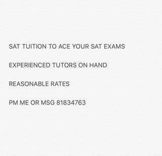 SAT TUITION 1-1
