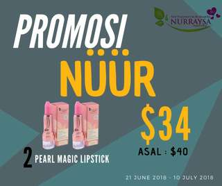 Promo 2 Pearl magic lipstick Nurrasya