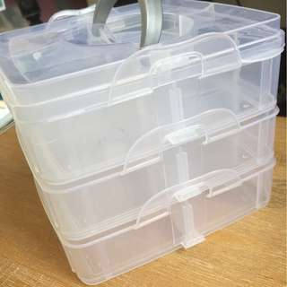 Stackable, adjustable compartment box