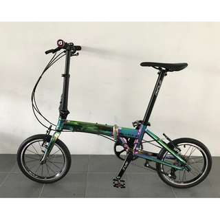 (Promotion!!) (last Set) Rifle 16'' Foldable bike/fodi with Oil Lead Coating(Light weight 8.5KG) 10 Speed with Sram Shifting System