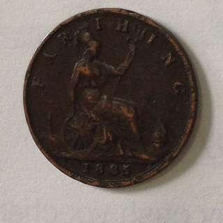 1885 GB Farthing