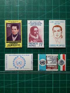 [均一價$10]1975 墨西哥 新票五套