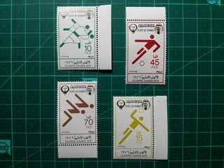 [均一價$10]1976 科威特 奧運會 新票四枚