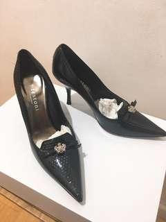Italian Leather Patent Heels
