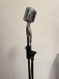 Vintage microphone with stand