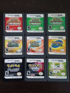 NINTENDO DS CARTRIDGES