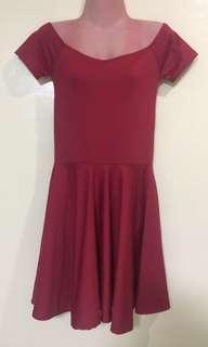 FOR SALE: Off Shoulder Maroon Dress
