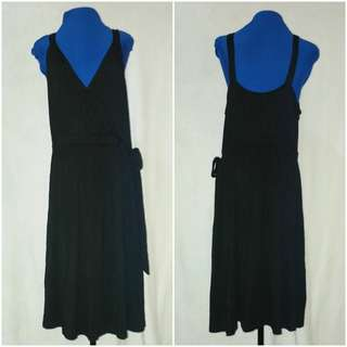 OLD NAVY Black V Neck Dress Plus Size