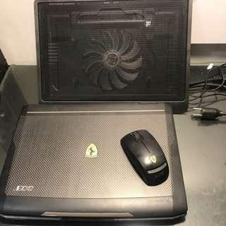 二手 ACER Ferrari F1100 AMD TL62/3GB/320GB/ATI X1270 滑鼠 散熱板