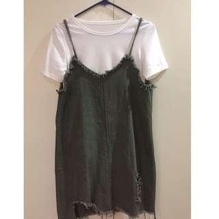 Korean Inspired Dress/Outfit -Tattered Design