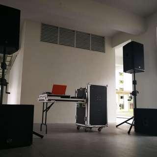 Sound System Rental for DJ (W/O SUB-WOOFER) (Transport & Setup)