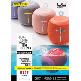 UE WonderBoom Wireless Speaker