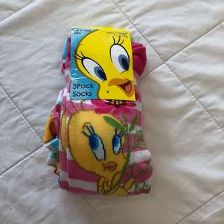 Tweety Bird 3-pack socks from Mothercare