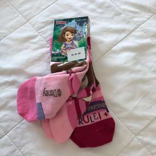 Sofia the First 3-pack socks from Mothercare