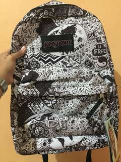 Authentic Jansport bag Doodle Design
