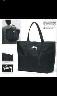 日本雜誌附件stussy 布挽購物袋(全部只寄)