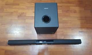 Philips HTL3140B Soundbar and Subwoofer