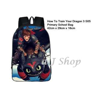 Preorder: How To Train Your Dragon 3 Design Primary School Bag/ Backpack