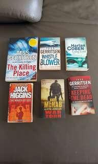 Tess Gerritsen, Jack Higgins, Harlan Coben, Andy McNab Books