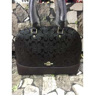 Coach Embossed Patent Handbag