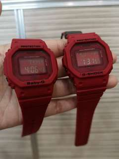 RED OUT COUPLE GSHOCK WATCH