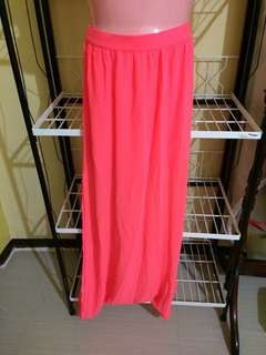 H&M Neon long skirt with side slits