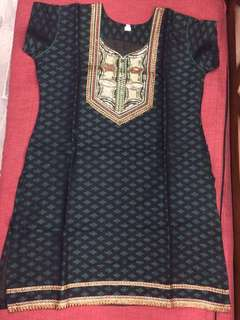 (BN) Promotion for this week-Dark Green Kurti with Bottom Set