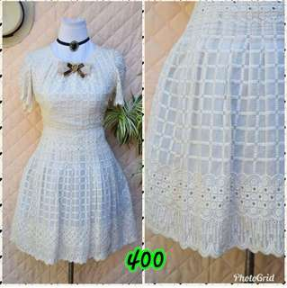 Cream dirtywhite vintage dress small to med