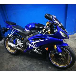 2008 Yamaha YZF-R6S (Price is inclusive of 10 years COE renewal)(HAVE TO PURCHASE WITH COE!!!!)