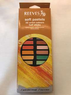 REEVES soft pastels 32 half sticks