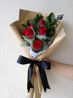 Flower & Money Bouquet (RM 5 notes)