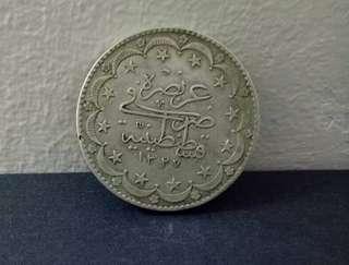 ** Promo Sales** Ottoman 20kurush Silver Coin
