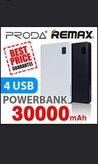 Promo Sale Authentic Remax Proda Powerbank 30000 mAh