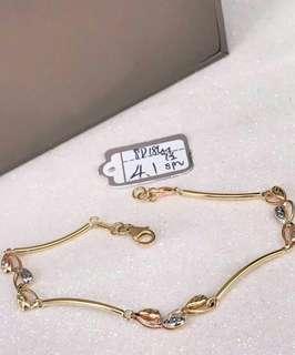 18k saudi gold tri color design bracelet