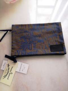 Vivienne Westwood Cotton Clutch (Blue &  Brown)