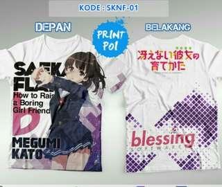 Kaoa Full Print Saekano Saenai Megumi Kato