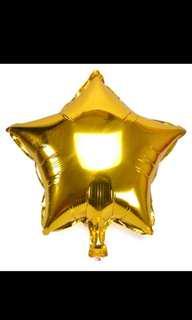 18吋 鋁 氣球 5角星星 金色 銀色