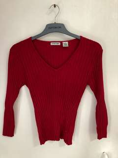 longsleeve red size small