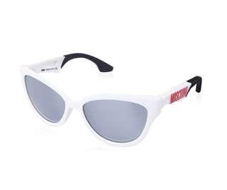 真品 全新 Moschino 白色紅字 太陽眼鏡 sunglasses