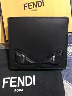 Authentic Fendi Bag Bugs Wallet