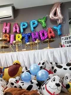 Happy birthday balloons foil