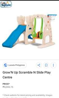 GROW & UP Slide and swing with Court on the side
